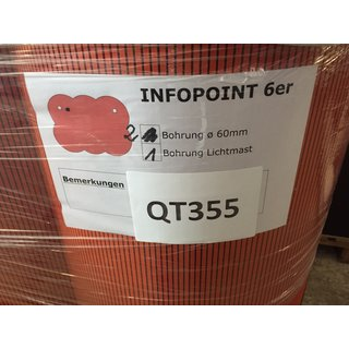 Roter Infopoint 6er (QT355)